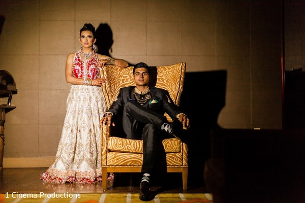 Reception Portrait in Dallas, TX Indian Wedding by 1 Cinema Productions