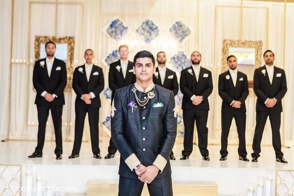 Groom Fashion in Dallas, TX Indian Wedding by 1 Cinema Productions