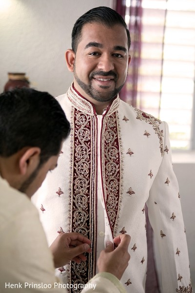 Groom Getting Ready in St. Croix, USVI  Indian Fusion Destination Wedding by Henk Prinsloo Photography