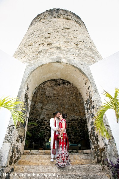 First Look in St. Croix, USVI  Indian Fusion Destination Wedding by Henk Prinsloo Photography