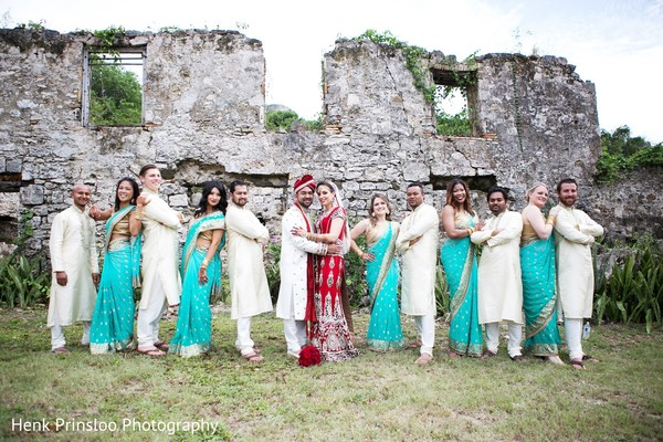 Wedding Party in St. Croix, USVI  Indian Fusion Destination Wedding by Henk Prinsloo Photography