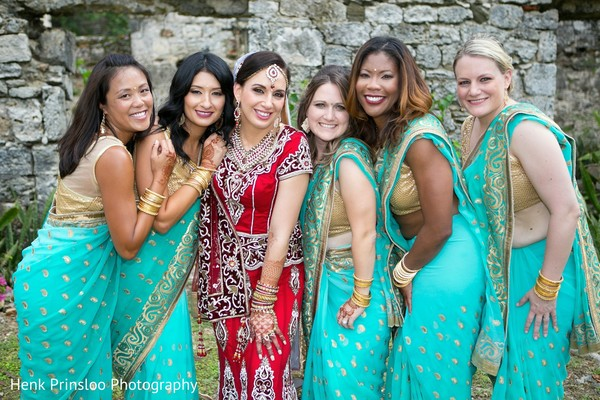 Bridal Party in St. Croix, USVI  Indian Fusion Destination Wedding by Henk Prinsloo Photography