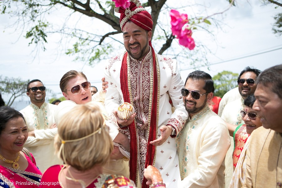 Baraat in St. Croix, USVI  Indian Fusion Destination Wedding by Henk Prinsloo Photography