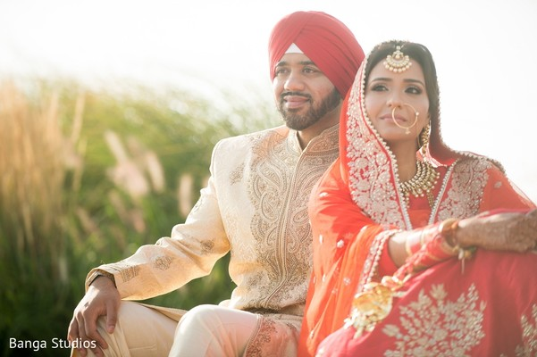 First Look in Jersey City, NJ Sikh Wedding by Banga Studios