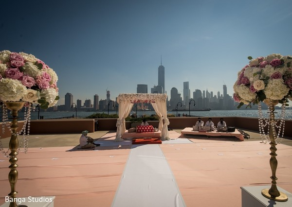 Ceremony Decor in Jersey City, NJ Sikh Wedding by Banga Studios