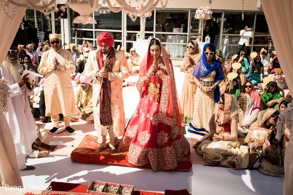 Ceremony in Jersey City, NJ Sikh Wedding by Banga Studios