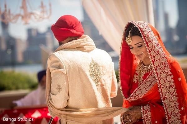 Ceremony in Jersey City, NJ Sikh Wedding by Banga Studios