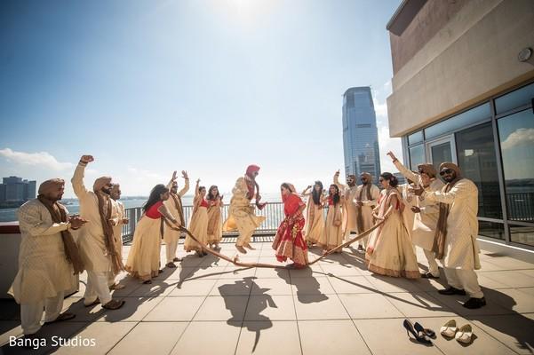 Wedding Party in Jersey City, NJ Sikh Wedding by Banga Studios