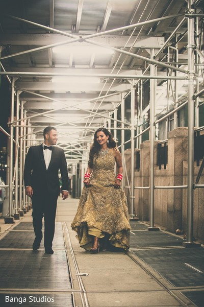 Reception Portrait in Jersey City, NJ Sikh Wedding by Banga Studios