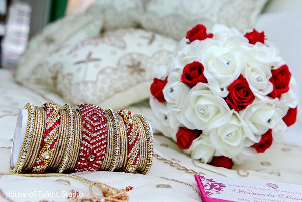 Bridal details in Woodland Park, NJ Indian Wedding by House of Talent Studios