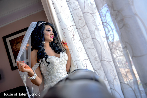 Indian bride in Woodland Park, NJ Indian Wedding by House of Talent Studios