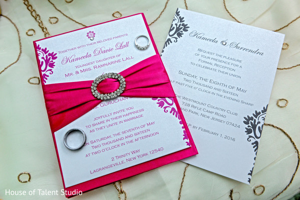 Modern Indian wedding invitations in Woodland Park, NJ Indian Wedding by House of Talent Studios