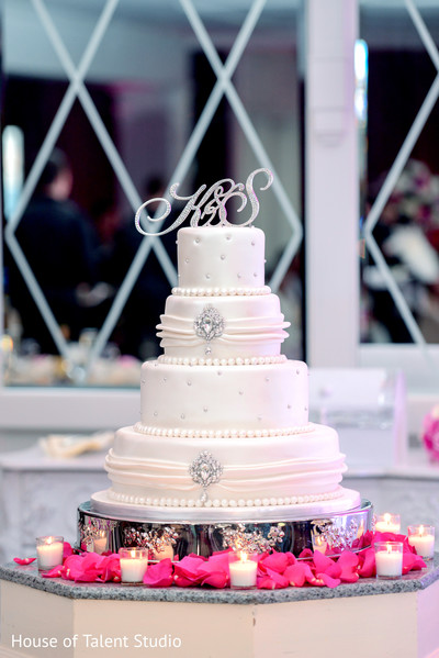Indian wedding cake in Woodland Park, NJ Indian Wedding by House of Talent Studios