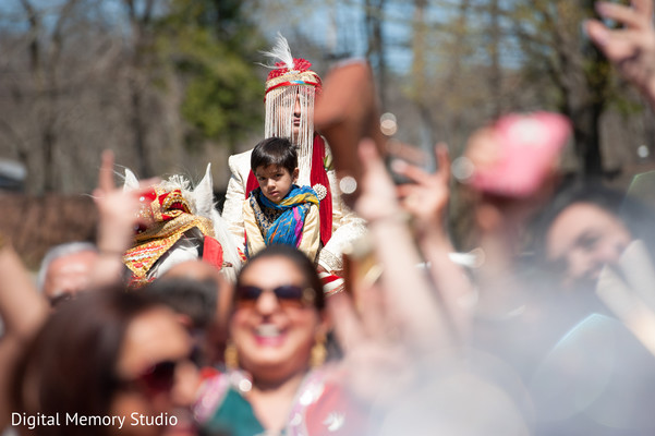 Baraat in Woodbury, NY Indian Wedding by Digital Memory Studio