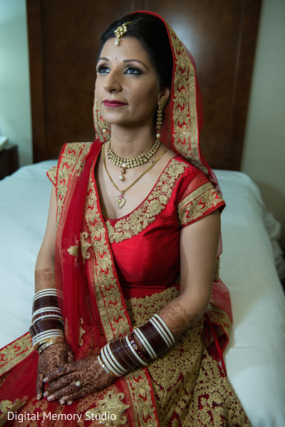 Indian bridal portrait in Woodbury, NY Indian Wedding by Digital Memory Studio