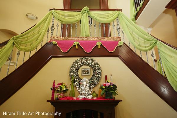 Gaye holud decor in Lubbock, TX Indian Wedding by Memories Films
