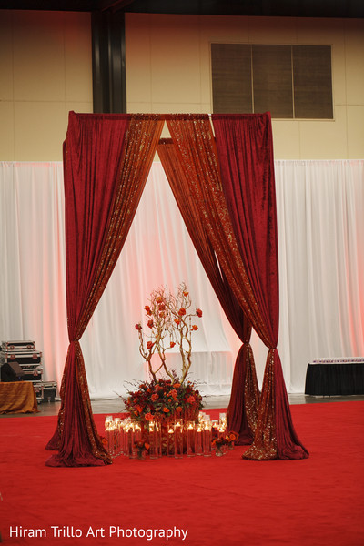 Garba night decor in Lubbock, TX Indian Wedding by Memories Films