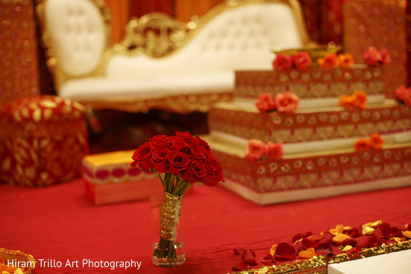 Pre-wedding floral and decor in Lubbock, TX Indian Wedding by Memories Films