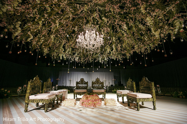 Ceremony decor in Lubbock, TX Indian Wedding by Memories Films