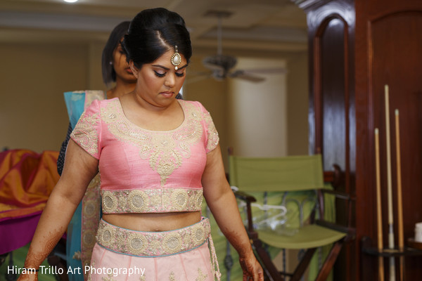 Indian bride getting ready in Lubbock, TX Indian Wedding by Memories Films
