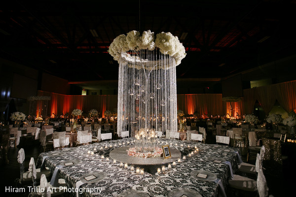 Indian wedding reception floral and decor in Lubbock, TX Indian Wedding by Memories Films