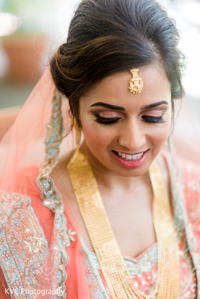 Indian bride in Duluth, GA Indian Fusion Wedding by KVC Photography