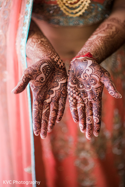 Mehndi hands in Duluth, GA Indian Fusion Wedding by KVC Photography