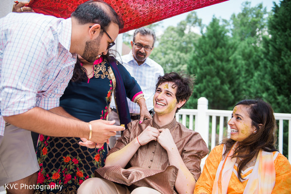 Gaye holud in Duluth, GA Indian Fusion Wedding by KVC Photography