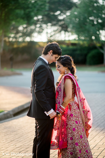 Indian reception portrait in Duluth, GA Indian Fusion Wedding by KVC Photography