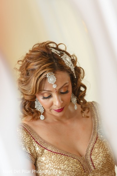 Hair & Makeup in Virginia Beach, VA Indian Fusion Wedding by Noel Del Pilar Photography