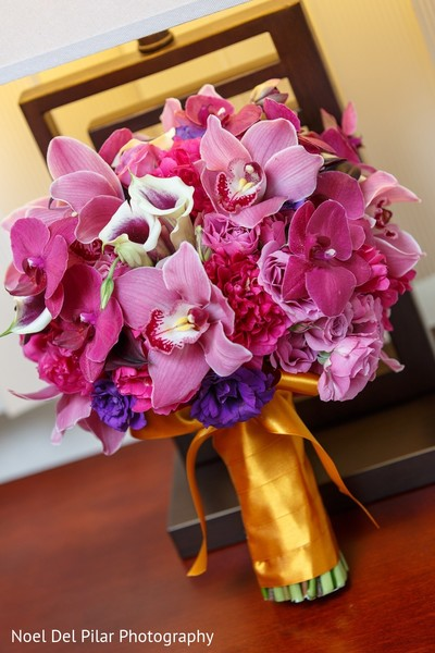 Bridal Bouquet in Virginia Beach, VA Indian Fusion Wedding by Noel Del Pilar Photography