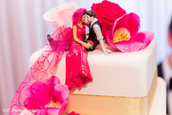 Cake topper in Duluth, GA Indian Fusion Wedding by KVC Photography