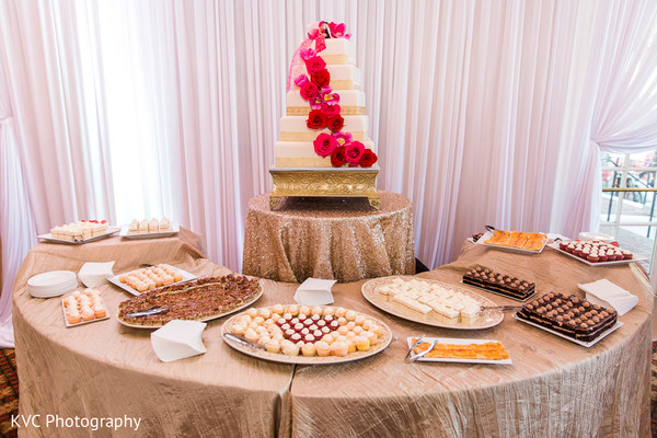 Indian wedding cake in Duluth, GA Indian Fusion Wedding by KVC Photography