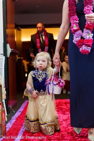 Ceremony in Virginia Beach, VA Indian Fusion Wedding by Noel Del Pilar Photography