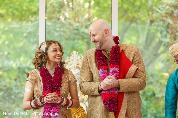 Ceremony in Virginia Beach, VA Indian Fusion Wedding by Noel Del Pilar Photography