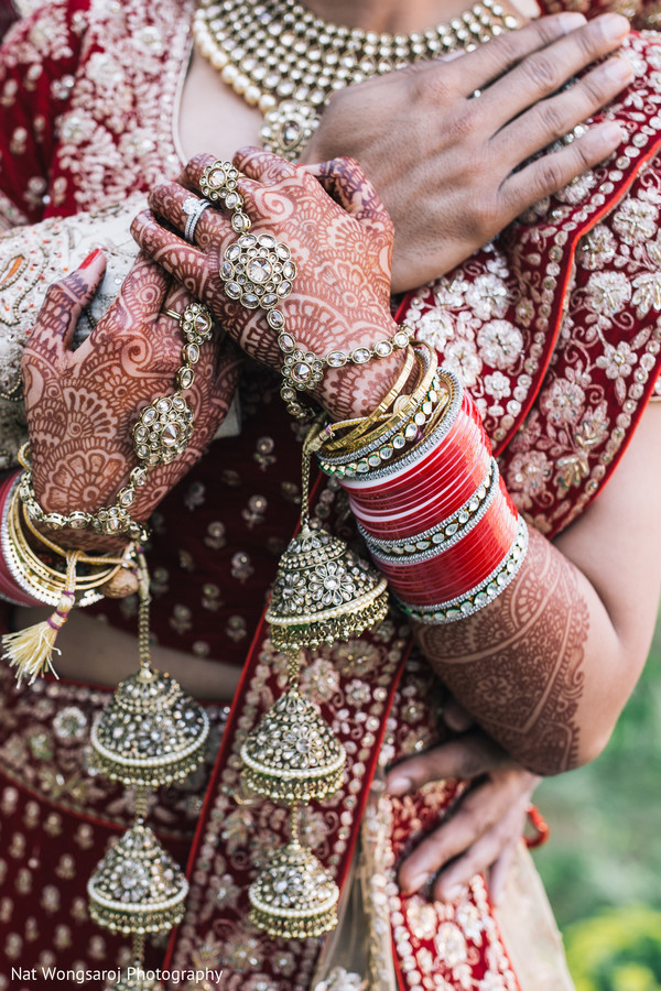 First look portraits in Arlington, VA Indian Wedding by Nat Wongsaroj Photography