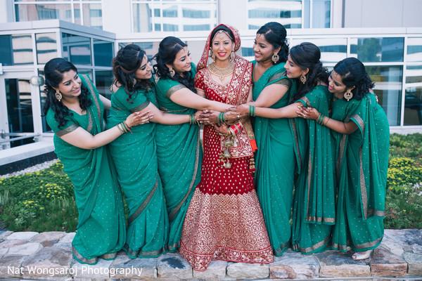 Indian bridal party in Arlington, VA Indian Wedding by Nat Wongsaroj Photography