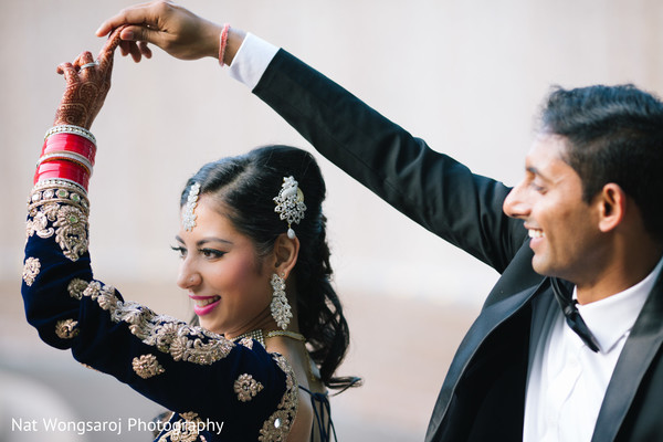 Indian wedding reception portraits in Arlington, VA Indian Wedding by Nat Wongsaroj Photography