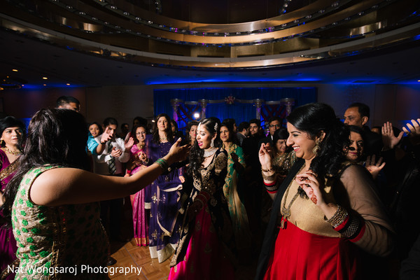 Indian wedding reception in Arlington, VA Indian Wedding by Nat Wongsaroj Photography