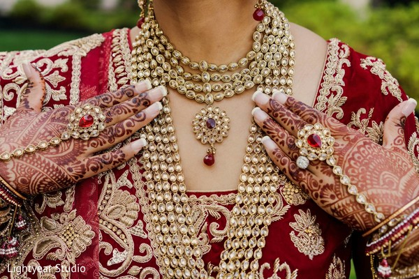 Indian bride jewelry in Whippany, NJ Indian Wedding by Lightyear Studio