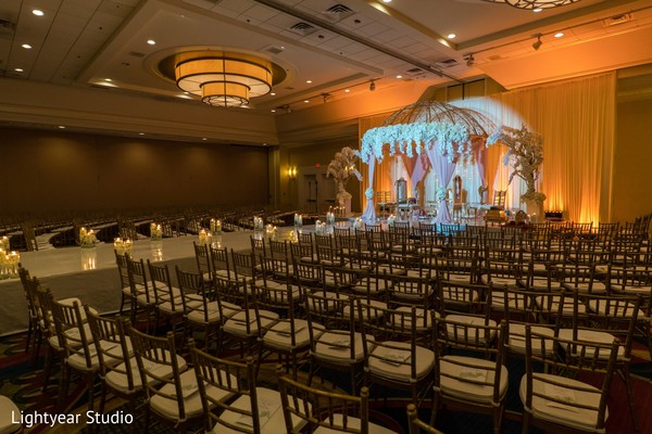 Ceremony floral and decor in Whippany, NJ Indian Wedding by Lightyear Studio