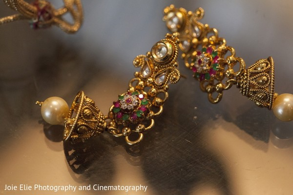 Bridal Jewelry in Cinnaminson, NJ Indian Wedding by Joie Elie Photography & Cinematography