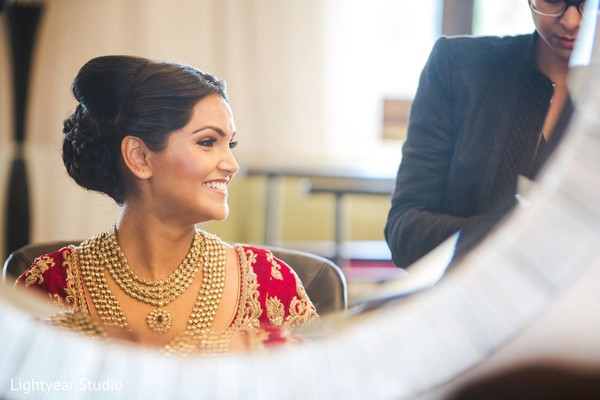 Getting ready in Whippany, NJ Indian Wedding by Lightyear Studio