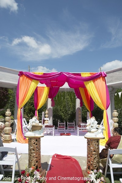 Mandap in Cinnaminson, NJ Indian Wedding by Joie Elie Photography & Cinematography