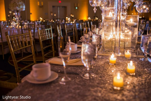 Reception floral and decor in Whippany, NJ Indian Wedding by Lightyear Studio