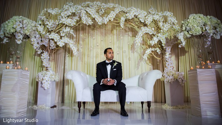 Reception portraits in Whippany, NJ Indian Wedding by Lightyear Studio