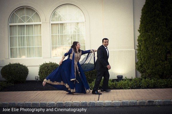 Reception Portrait in Cinnaminson, NJ Indian Wedding by Joie Elie Photography & Cinematography