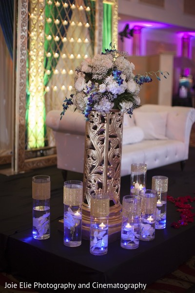 Floral & Decor in Cinnaminson, NJ Indian Wedding by Joie Elie Photography & Cinematography