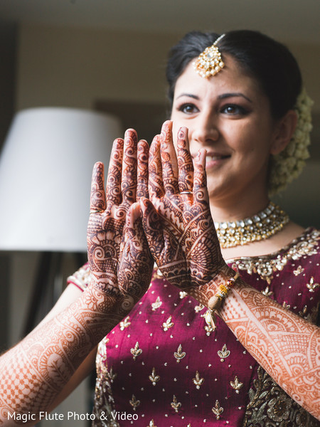 Mehndi in Mahwah, NJ Indian Fusion Wedding by Magic Flute Photo & Video