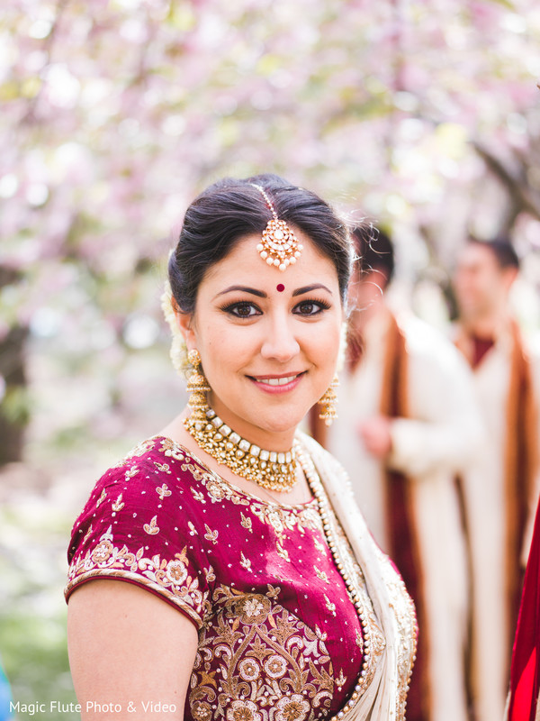 Bridal Portrait in Mahwah, NJ Indian Fusion Wedding by Magic Flute Photo & Video